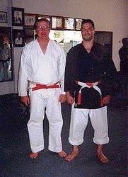 Sensei Morales with Shihan Ron Lindsey
