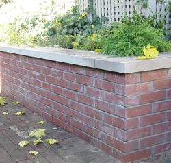 Brick Seating Wall