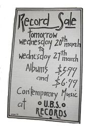 UBS Record Sale Advert 1977