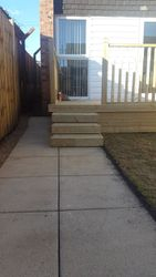fencing and decking job