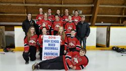 St.Claude Stallions 2016 HighSchool Mixed Broomball Provincial Champions