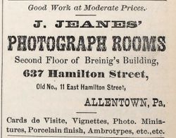 J. Jeanes, photographer of Allentown, PA