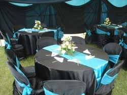 Black and turquise blue wedding