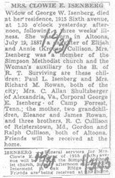 Isenberg, Clowie Cullison 1943