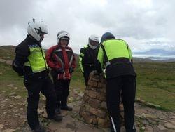 dismantling cairn on Applecross Pass top!
