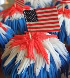 Flags and Streamers Cupcakes