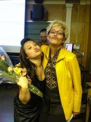 After a recital with my darling teacher Sylvia McNair