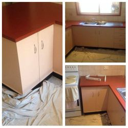 Before shots of A kitchen.