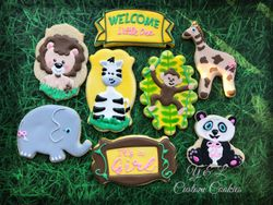 Baby Shower Custom Cookies Jungle Theme