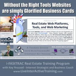 Without the Right Tools Websites are simply Glorified Business Cards - iF201-04 Feb 2020 - #LiveTrainingRE