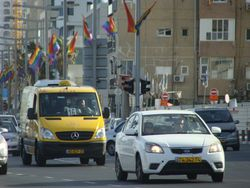 Rainbow flags in Tel Aviv