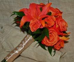 Ebony Bryant Wedding Bouquet