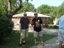 Rex Evans and Mark DePhillips-Pre-parade