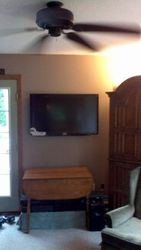 Installation of TV on Wall- After