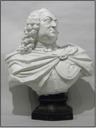 George II resurrected waster bust