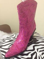 Hot Pink Short Bling Boots
