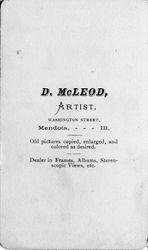 D. McLeod, photographer, Mendota, IL - back