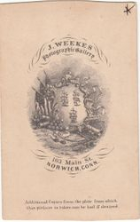 J. Weekes, photographer of Norwich, CT - back