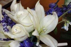 Bridal Bouquet -- Romantic w/Glitter & Diamond Pins