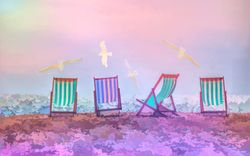 Beach Chairs - pink
