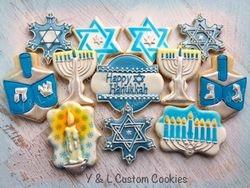 Decorated Hanukkah Cookies
