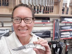 Twyla and her new Don Hethcoat Knife