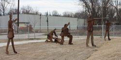 Civil War soldier skirmish line
