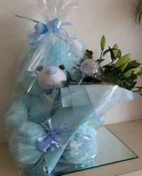Large Teddy Bearand Bouquet