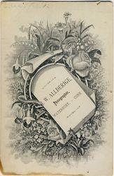 J. W. Allderige, photographer of Waterbury, CT - back