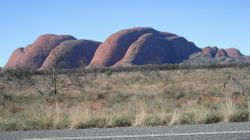 The Olgas taken from the roadway