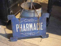 #14/ Metal Pharmacy Sign SOLD