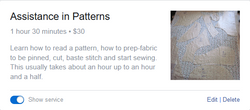 Assistance in Pattern Making
