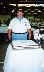 Tom with the Ulysses Birthday Cake 1995 AGM Toowoomba - Mar 1995
