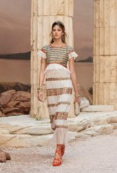 Amphora dresses with cracked marble