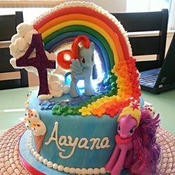 Rainbow River Pony 4th Birthday