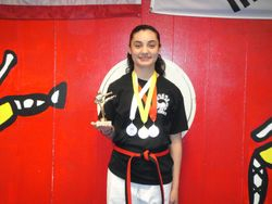 04-01-2012 Yong In Championship Amanda Martinez 2nd pl Forms 3rd pl Breaking 1st pl Weapons 1st pl Fighting