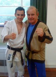 A young Ash with Soke Brian Dossett