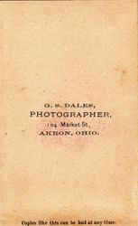George S. Dales, photographer, of Akron, Ohio - back