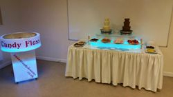 Chocolate fountain and candy floss machine package hire