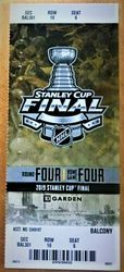 Stanley Cup Game 7 Ticket Stub Boston Bruins St. Louis Blues Boston 6/12/19