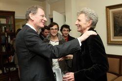 mit Dr. Clemens Hellsberg, ehem. Präsident von Wr.Philharmoniker, nach Alexis' Alpensymphonie Aufführung in Montreal, 29. Nov. 2014