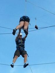 Michael and Logan begin partners ropes 2
