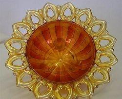 Wild Rose Open Edge bowl - marigold, flat rays interior
