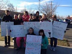 Teens at Human Trafficking Awareness Walk