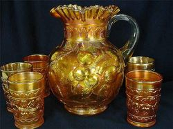 Apple Tree  water set, marigold