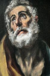 El Greco, Penitent Peter, detail, Philips Collection