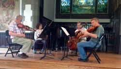 Quartet performing