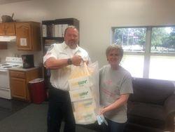 Thanking the Pulaski County Ambulance District