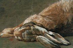 Chardin, Still-Life with Hare, detail, Philadelphia
