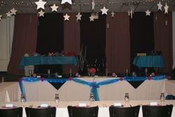 Blue theme, head table